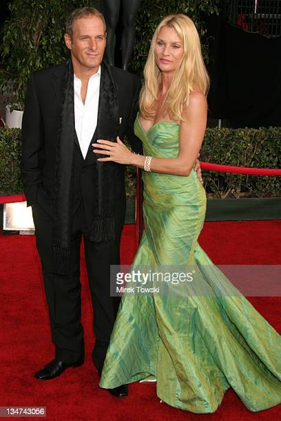 Michael Bolton and Nicollette Sheridan during 12th Annual Screen Actors Guild Awards Arrivals at Shrine Expo Hall in Los Angeles CA United States