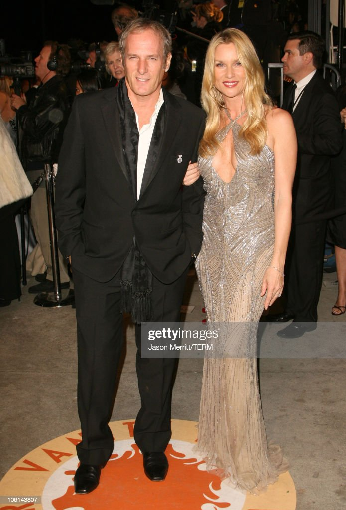 Michael Bolton and Nicollette Sheridan during 2007 Vanity Fair Oscar Party Hosted by Graydon Carter at Mortons in West Hollywood California United...