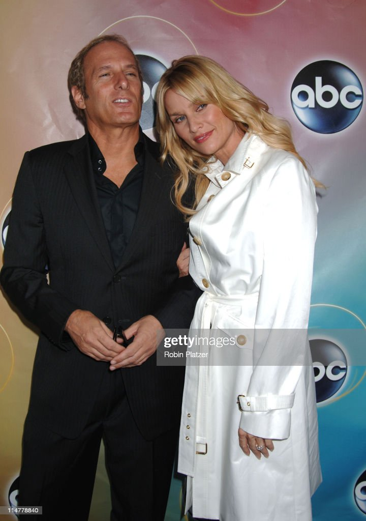Michael Bolton and Nicollette Sheridan during ABC Upfront 2006/2007 - Arrivals at Lincoln Center in New York City, New York, United States.