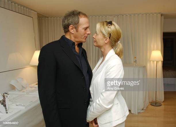 Michael Bolton and Nicollette Sheridan during Platinum Guild Oscar Suite 2006 at Mondrian Hotel in West Hollywood California United States