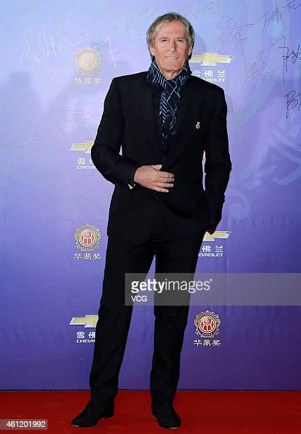 Michael Bolton attends the 14th Huading Award Global Music Satisfaction Survey Release Ceremony on January 8 2015 in Shanghai China