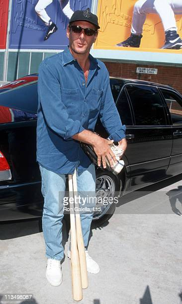 Michael Bolton during 40th Annual Hollywood AllStar Baseball Game August 8 1998 at Dodgers Stadium in Los Angeles California United States