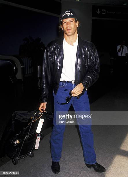 Michael Bolton during Michael Bolton Sighting at Los Angeles International Airport May 22 1990 at Los Angeles International Airport in Los Angeles...