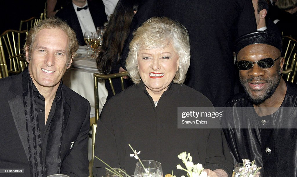 Michael Bolton, Frances Preston and Isaac Hayes during The Broadcasters Foundation Presents their 2004 Golden Mike Award to Frances W. Preston of BMI at Plaza Hotel in New York City, New York, United States.