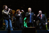 Michael Bonagura Kathie Baillie and Dailey Vincent perform during Playin' Possum The Final No Show Tribute To George Jones Show at Bridgestone Arena...