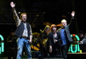 Michael Bonagura Kathie Baillie and Jamie Dailey of Dailey Vincent perform during Playin' Possum The Final No Show Tribute To George Jones Show at...