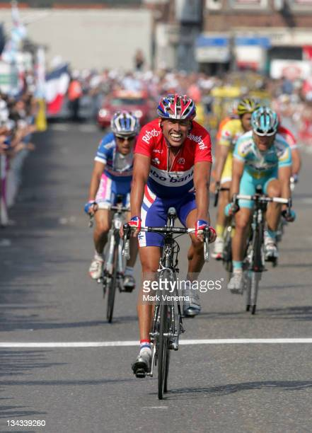 Michael Boogerd of team Rabobank finishes 6th at the 2007 Liege Bastogne Liege Pro Tour cycling event in Ans Belgium on April 29 2007