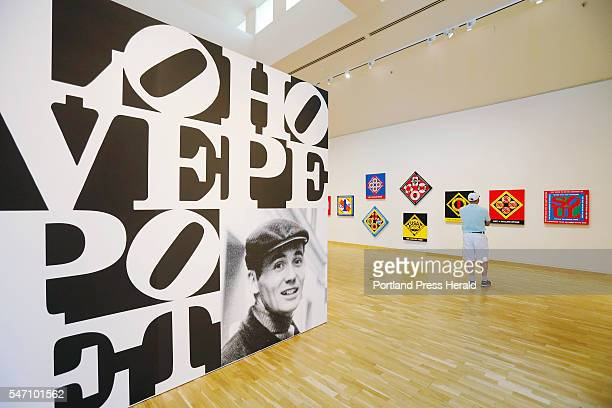 Michael Boulanger views the Robert Indiana exhibition Wednesday July 6 2016 at the Bates College Museum of Arts in Lewiston Maine