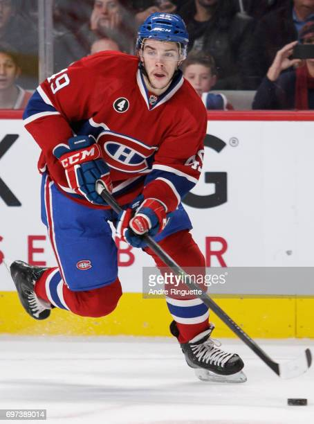 Michael Bournival of the Montreal Canadiens plays in the game against the Los Angeles Kings at the Bell Centre on December 12 2014 in Montreal Quebec...