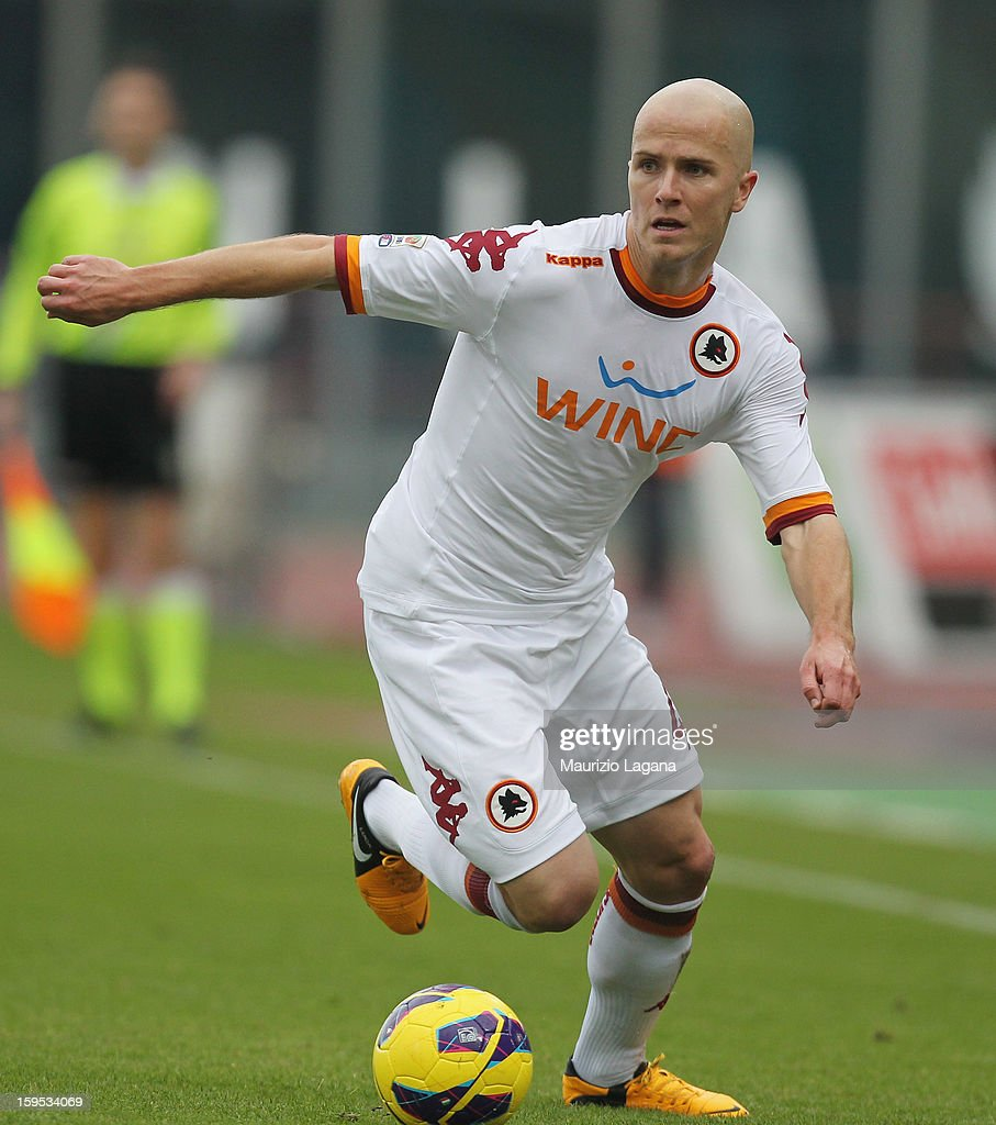 Michael Bradley of Roma during the Serie A match between Calcio Catania and AS Roma at Stadio Angelo Massimino on January 13, 2013 in Catania, Italy.