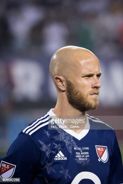 Michael Bradley of the MLS AllStar at the line up at the start of the MLS AllStar match between the MLS AllStars and Real Madrid at the Soldier Field...