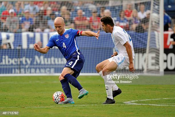 Michael Bradley of the United States Men's National team plays against Guatemala in an international friendly match at Nissan Stadium on July 3 2015...