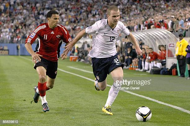 Michael Bradley of the United States paces the ball on the flank during a FIFA 2010 World Cup Qualifying match against Trinidad and Tobago on April 1...