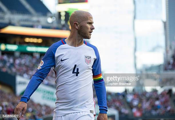 Michael Bradley of the United States walks on the pitch during a Quarterfinal match between USA and Ecuador at CenturyLink Field as part of Copa...