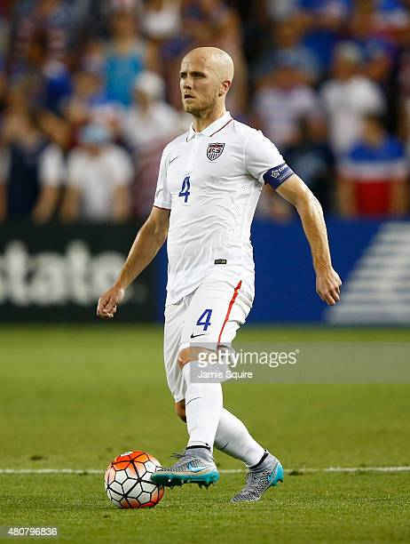 Michael Bradley of the USA controls the ball during the CONCACAF Gold Cup match against Panama at Sporting Park on July 13 2015 in Kansas City Kansas
