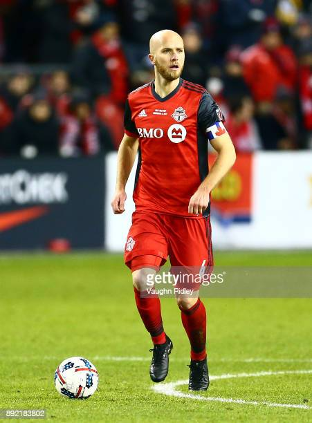 Michael Bradley of Toronto FC dribbles the ball during the 2017 MLS Cup Final against the Seattle Sounders at BMO Field on December 9 2017 in Toronto...
