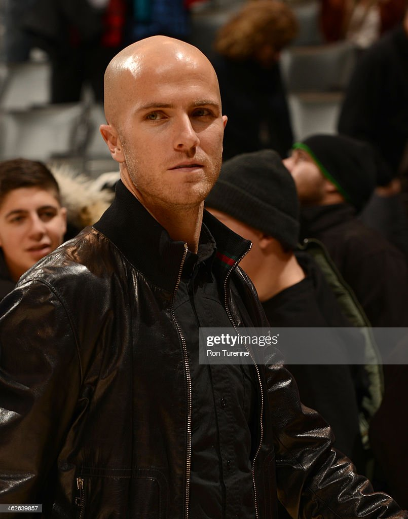 <a gi-track='captionPersonalityLinkClicked' href=/galleries/search?phrase=Michael+Bradley+-+Soccer+Player&family=editorial&specificpeople=7022299 ng-click='$event.stopPropagation()'>Michael Bradley</a> of Toronto FC of Major League Soccer attends the Milwaukee Bucks game against the Toronto Raptors on January 13, 2014 at the Air Canada Centre in Toronto, Ontario, Canada.