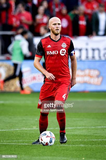 Michael Bradley of Toronto FC with the ball during the first half of the MLS Soccer regular season game between Toronto FC and Montreal Impact on...
