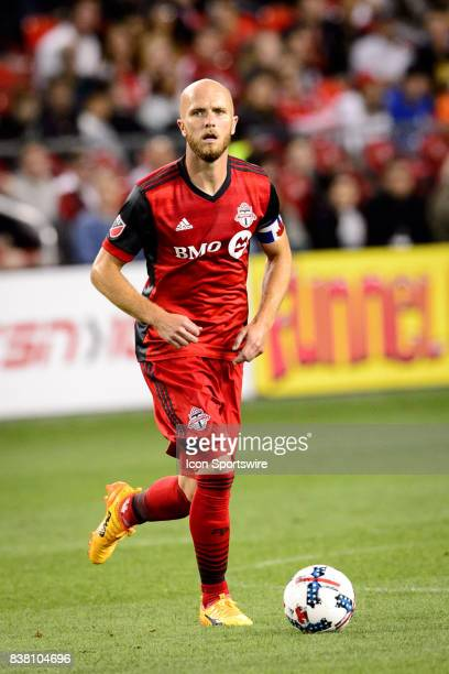 Michael Bradley of Toronto FC with the ball during the second half of the MLS Soccer regular season game between Toronto FC and Philadelphia Union on...