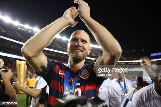 Michael Bradley of United States celebrates after winning the CONCACAF Gold Cup 2017 final match between United States and Jamaica at Levi's Stadium...