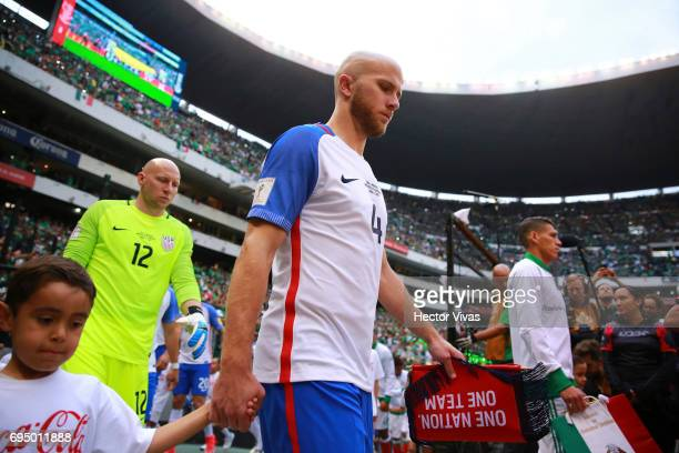 Michael Bradley of United States enters to the field prior to the match between Mexico and The United States as part of the FIFA 2018 World Cup...