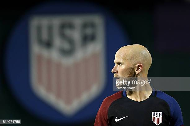Michael Bradley of United States looks on against New Zealand in the second half during an International Friendly at RFK Stadium on October 11 2016...