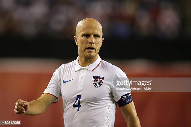 Michael Bradley of United States of America looks on during the CONCACAF Gold Cup match between USA and Haiti at Gillette Stadium on July 10 2015 in...