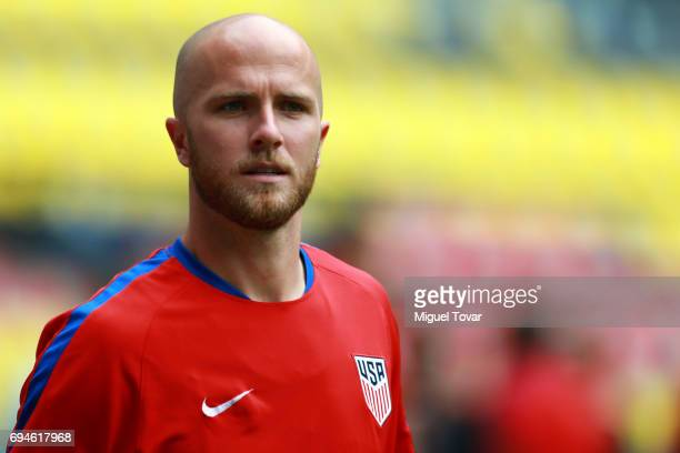 Michael Bradley of US looks on during a training session at Azteca Stadium on June 10 2017 in Mexico City Mexico