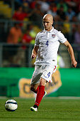 Michael Bradley of USA during a friendly match between Chile and USA at El Teniente Stadium on January 28 2015 in Rancagua Chile