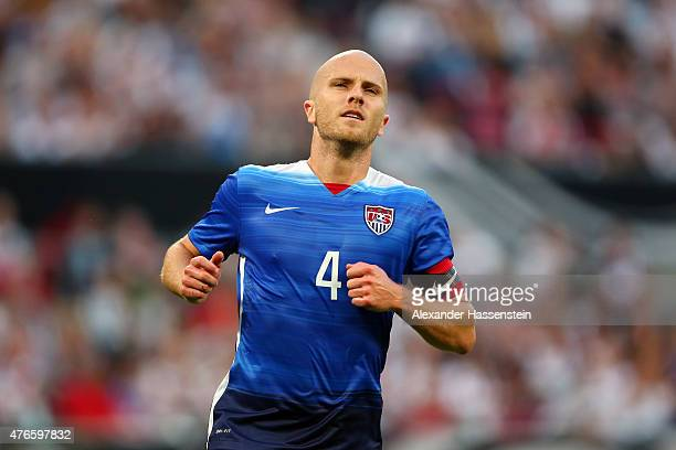 Michael Bradley of USA looks on during the international friendly match between Germany and USA at RheinEnergieStadion on June 10 2015 in Cologne...