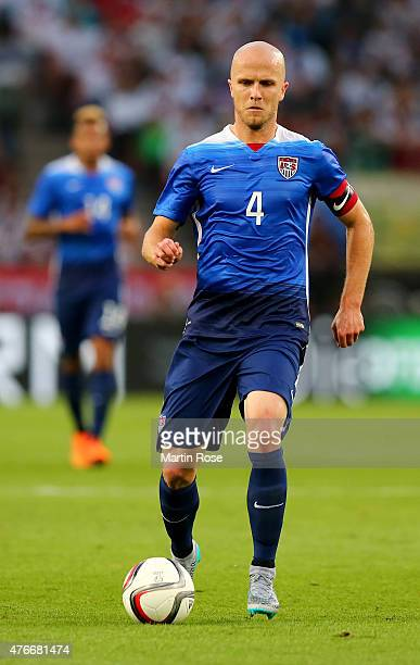 Michael Bradley of USA runs with the ball during the International Friendly match between Germany and USA at RheinEnergieStadion on June 10 2015 in...