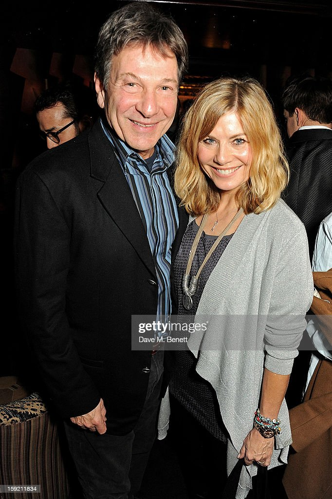 Michael Brandon (L) and Glynis Barber attend a private dinner hosted by Tom Ford to celebrate his runway show during London Collections: MEN AW13 at Loulou's on January 9, 2013 in London, England.