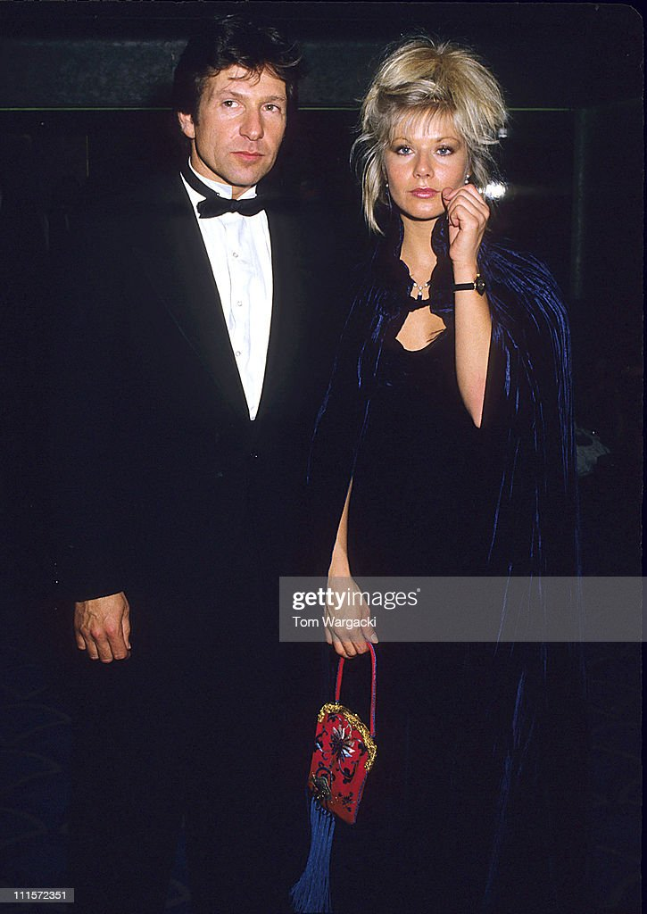Glynis Barber and Michael Brandon at the Bafta Awards in 1988
