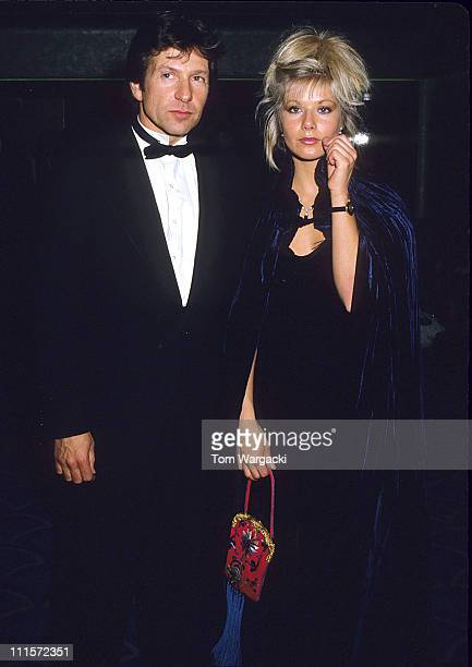 Michael Brandon and Glynis Barber during Glynis Barber and Michael Brandon at the Bafta Awards in 1988 in London Great Britain