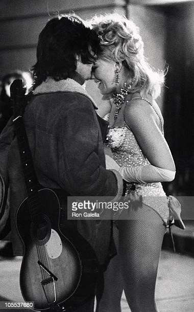 Michael Brandon and Kim Novak during On Location Filming 'Third Girl from the Left' January 25 1973 at Filming 'Third Girl from the Left' in New York...