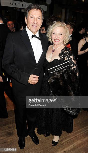 Michael Brandon and Sandra Dickinson attend an after party following the 2012 Olivier Awards held at The Royal Opera House on April 15 2012 in London...