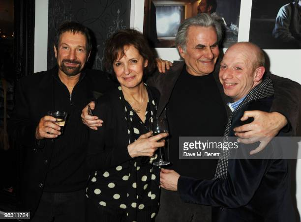 Michael Brandon Kate Fahy Oliver Cotton and Steve Furst attend the press night of 'Wet Weather Cover' at the Arts Theatre on April 7 2010 in London...
