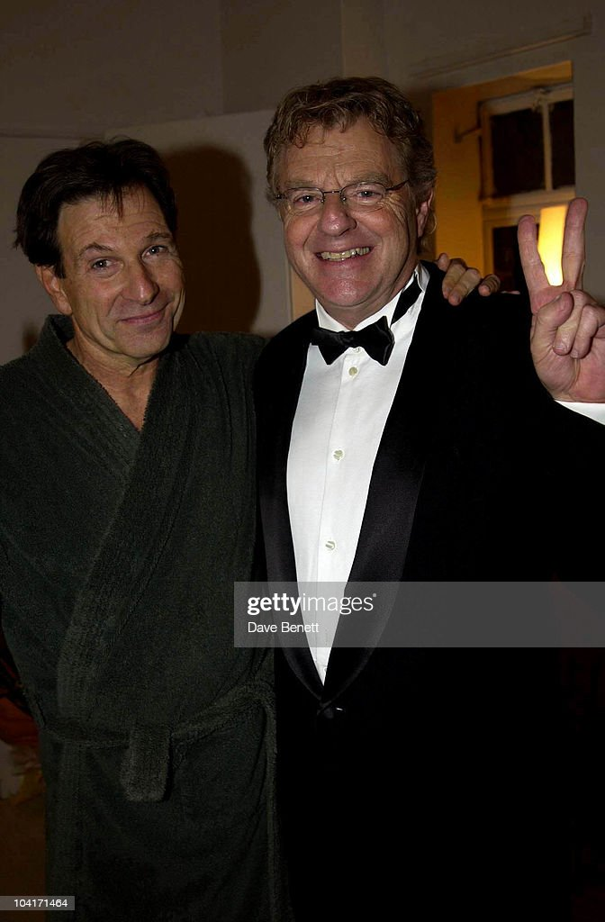 Michael Brandon With Jerry Springer, Jerry Springer Opera In The West End Opens At The Cambridge Theatre In Covent Garden, Then Party At The Whitehall Banquetting Rooms