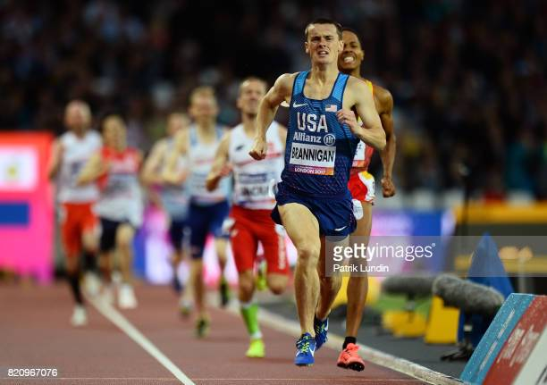 Michael Brannigan of The USA crosses the finish line to win gold in the final of the mens 800m T20 on day nine of the IPC World ParaAthletics...