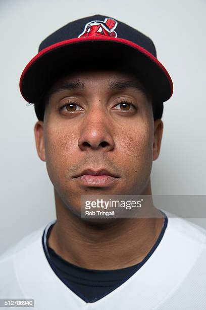 Michael Brantley of the Cleveland Indians poses for a portrait during photo day at the Cleveland Indians Development Complex on February 27 2016 in...
