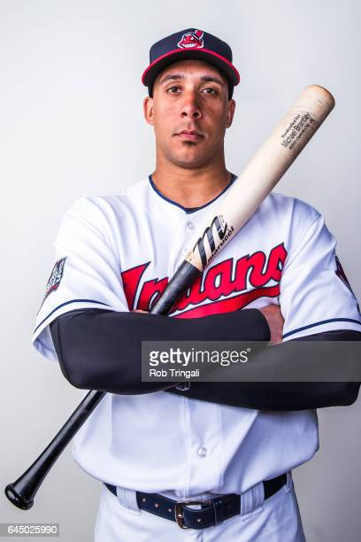 Michael Brantley of the Cleveland Indians poses for a portrait during Indians Photo Day at the Goodyear Sports Complex on February 24 2017 in...