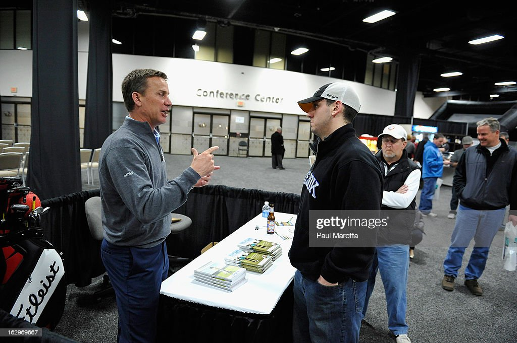 Michael Breed, host of Golf Channel's 'Golf Fix' visits 2013 National Golf Expo at Seaport World Trade Center on March 2, 2013 in Boston, Massachusetts.
