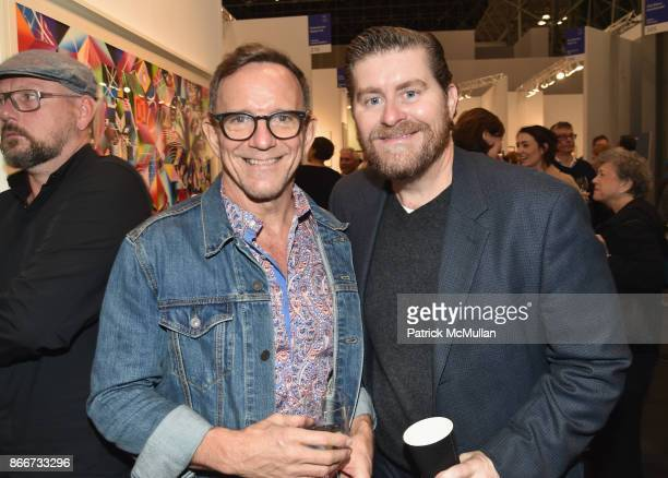 Michael Brian and Mark Mcgrath attend the IFPDA Fine Art Print Fair Opening Preview at The Jacob K Javits Convention Center on October 25 2017 in New...
