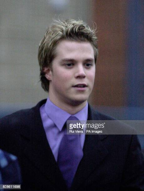 Michael Briggs son of the Coronation Street star Johnny Briggs is pictured leaving Wolverhampton Crown Court after facing indecent assult charges...