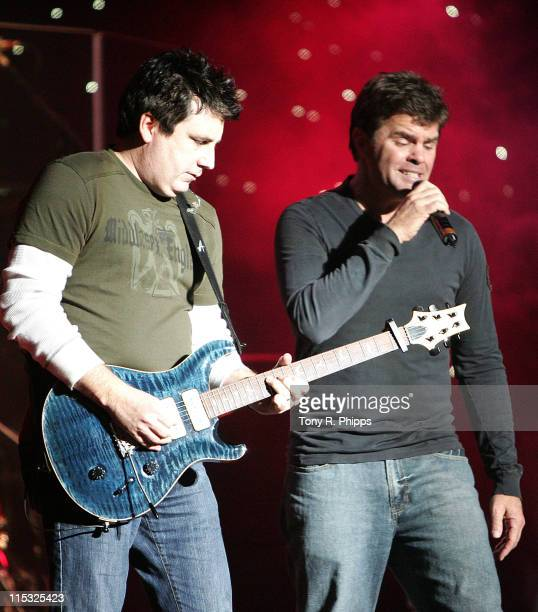 Michael Britt and Richie McDonald of Lonestar during Sprint Sound and Speed VIP Gala Dinner Auction and Performance at The Wildhorse in Nashville...