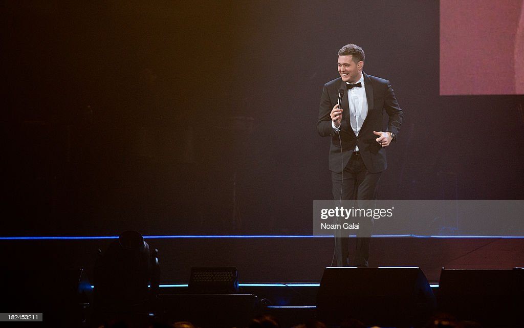 Michael Bublé performs at the Barclays Center on September 29, 2013 in the Brooklyn borough of New York City.