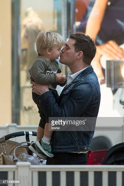Michael Buble and son Noah sighting on April 28 2015 in Madrid Spain