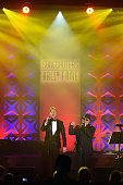 Michael Buble and Van Morrison peform onstage at the Songwriters Hall Of Fame 46th Annual Induction And Awards at Marriott Marquis Hotel on June 18...