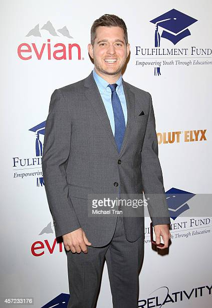 Michael Buble arrives at the 20th Annual Fulfillment Fund Stars Benefit Gala held at The Beverly Hilton Hotel on October 14 2014 in Beverly Hills...