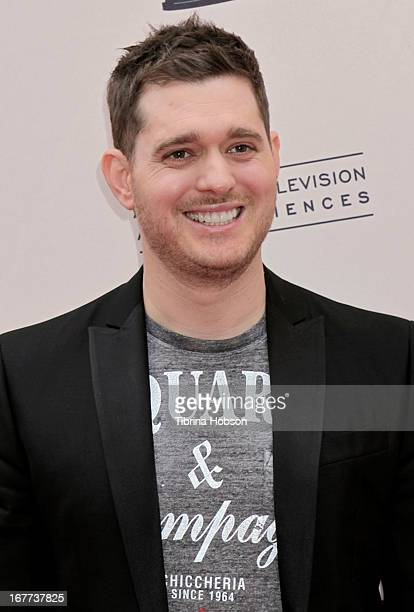 Michael Buble attends the Academy of Television Arts Sciences presents an evening with Michael Buble at the Wadsworth Theater on April 28 2013 in Los...